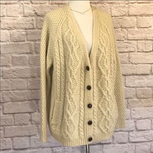 BDG UO Cardigan Oversized Cable knit Sweater Large